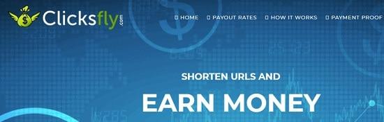 ClicksFly url shortener site
