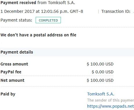 PopAds.net Payment Proof